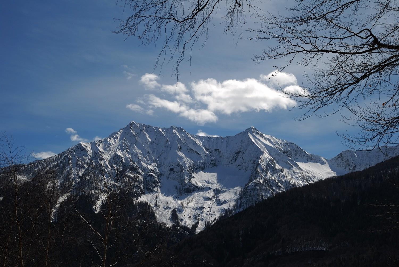 Pizzo Ragno et Pizzo Nona (Par Nal du Val Grande), depuis l'Alpe Travello