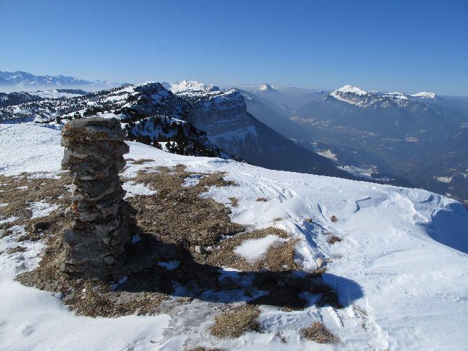 Sommet soufflé du Mont Granier