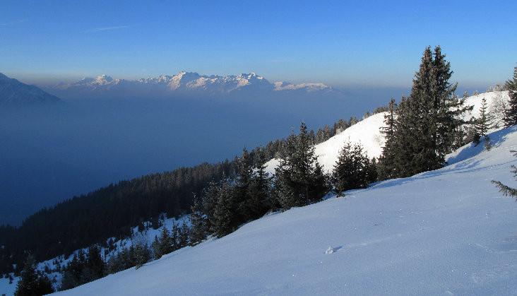 Panorama sur Grandes Rousses et Belledonne