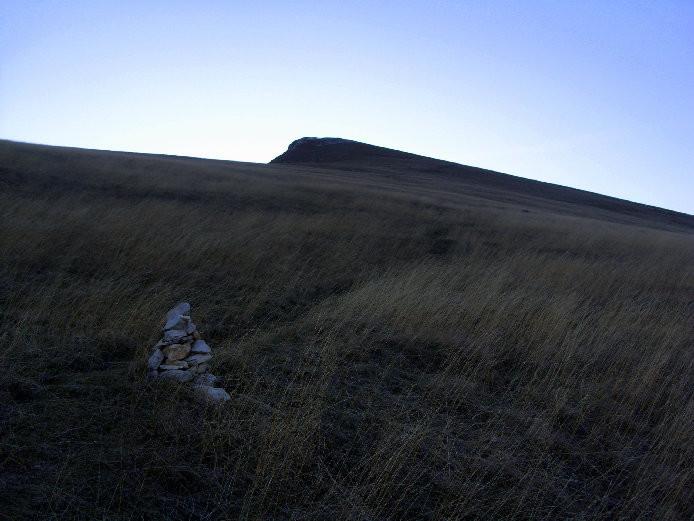 La prairie menant au sommet