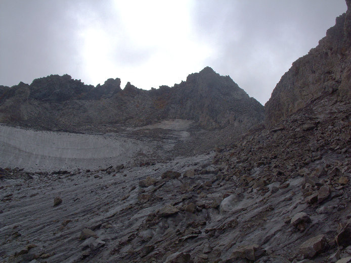 Ambiance très sinistre sur le glacier de Celliers