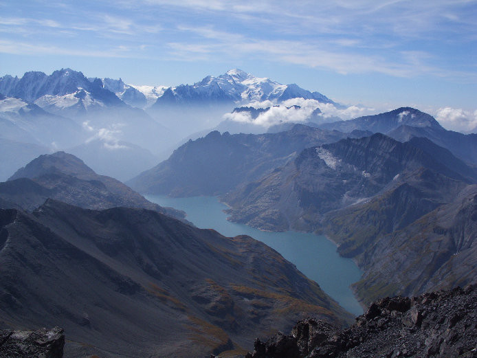 Panorama vers le Mont Blanc