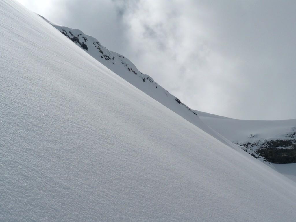 Neige de rêve sur le glacier de Pierredar