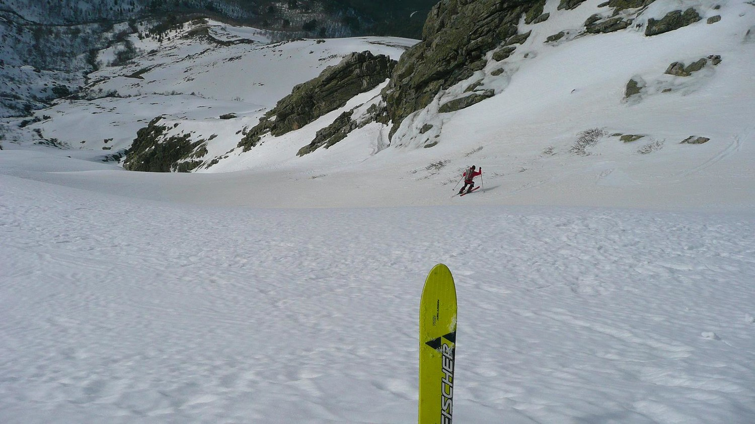 Mes skis vivants, à l'attaque du couloir NW du Tozzu
