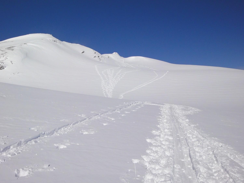 Glacier de Vouasson, pointe de Vouasson au centre