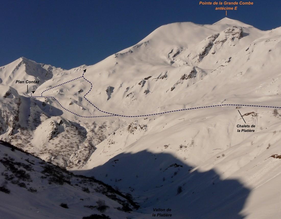Pointe de la Grande Combe (itinéraire à ski)