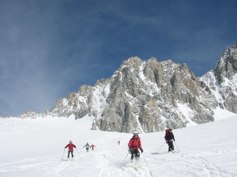 Descente sur le glacier des Améthystes