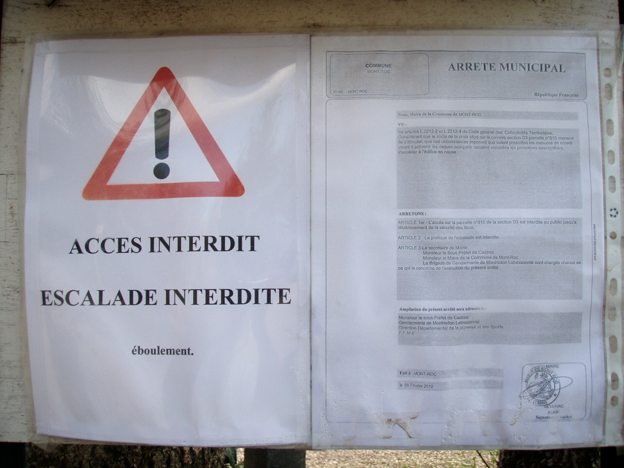 Texte interdiction