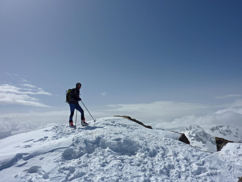 Pic d'Ardiden - Paul Naref au sommet (notez les pompes derniers cris !)