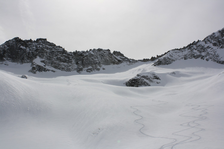 Le versant N du Col des Berches vu du Vallonnet