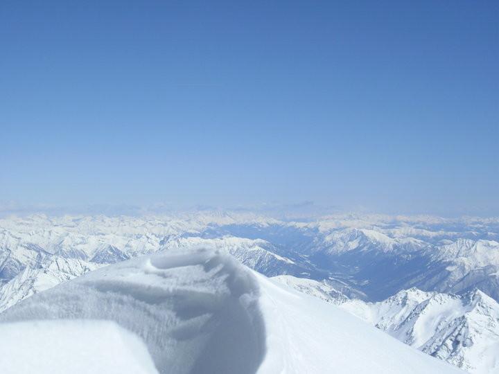 il panorama dai 3500m