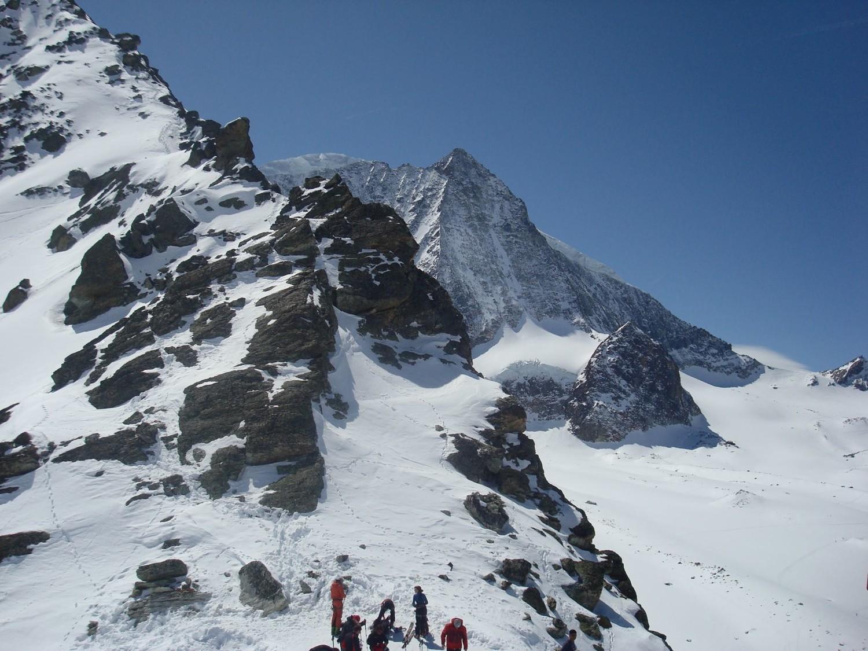 Vue du Mt-blanc de Cheilon depuis le pas de Chèvre