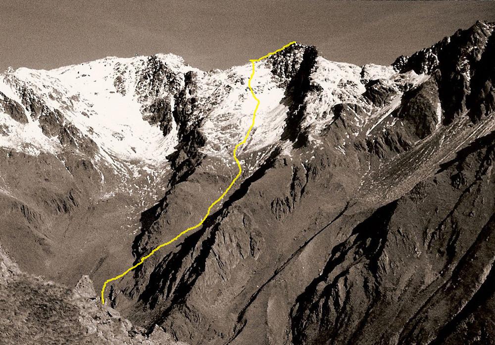 itinerario alla Piramide Ovest di Somalbosco