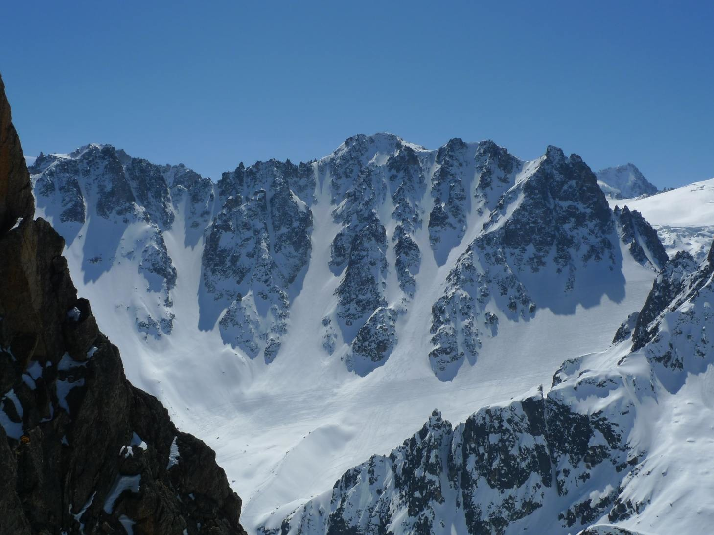 Couloirs de la pointe d'Orny.