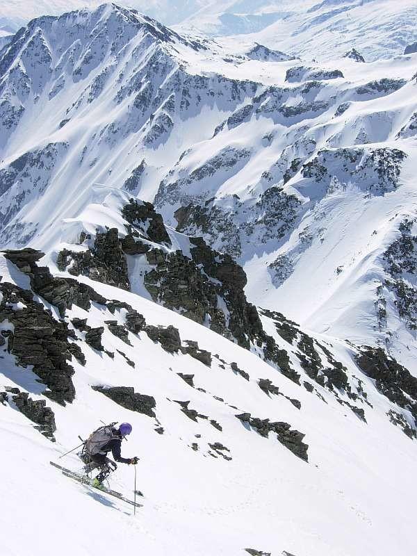 Grande Valloire Avril 2010 : Hop la facette S de la Grande Valloire avalée en qq virages (c trop bon)
