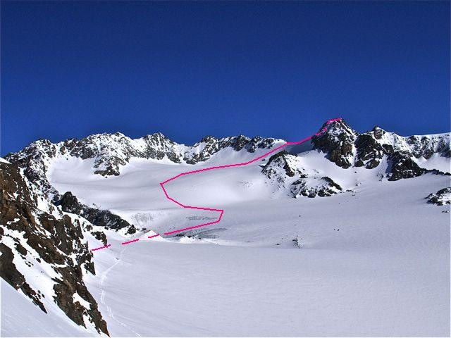 Itinéraire vu depuis le Col de Pierre Lory