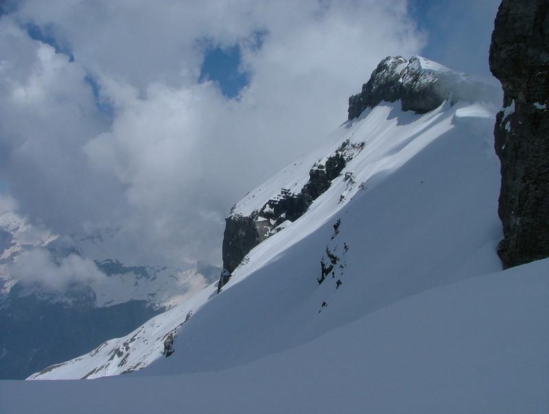 Grenier de Commune - le haut de la combe de la Cathédraleet le sommet W du Grenier de Commune