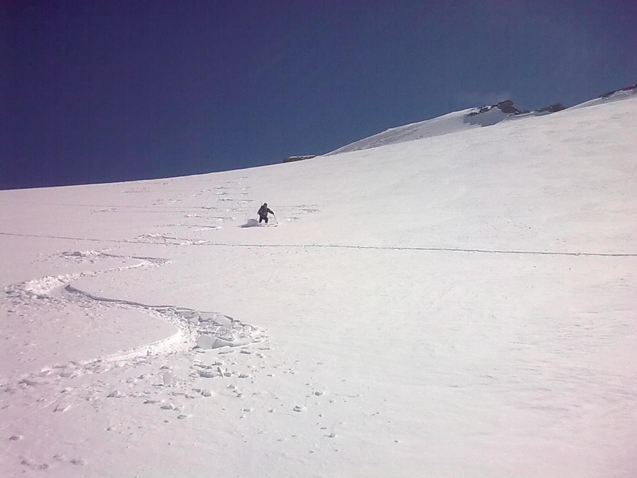 descente glacier charbonnel