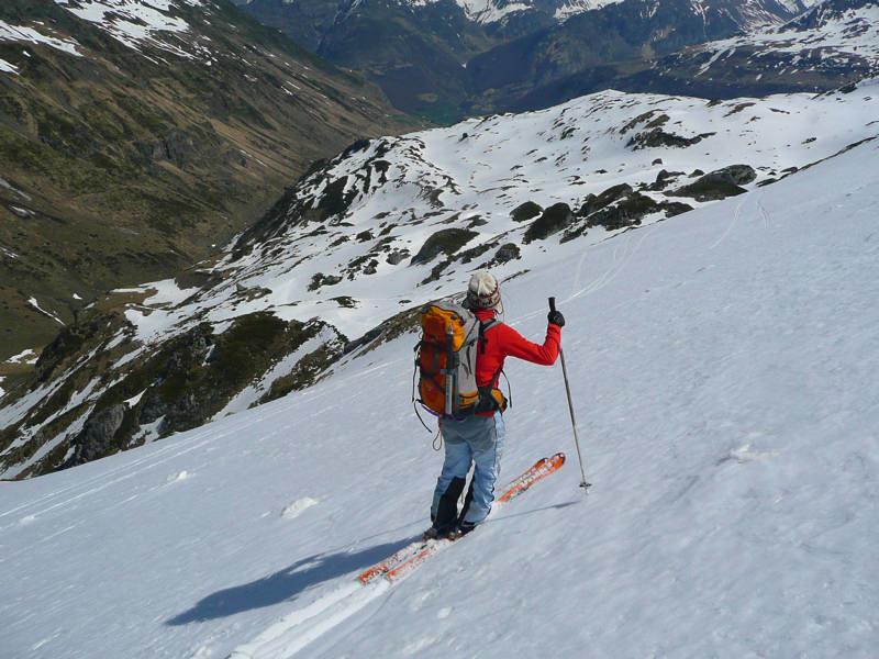 Soum Blanc de Sécugnat: dans la traversée vers 2000 m