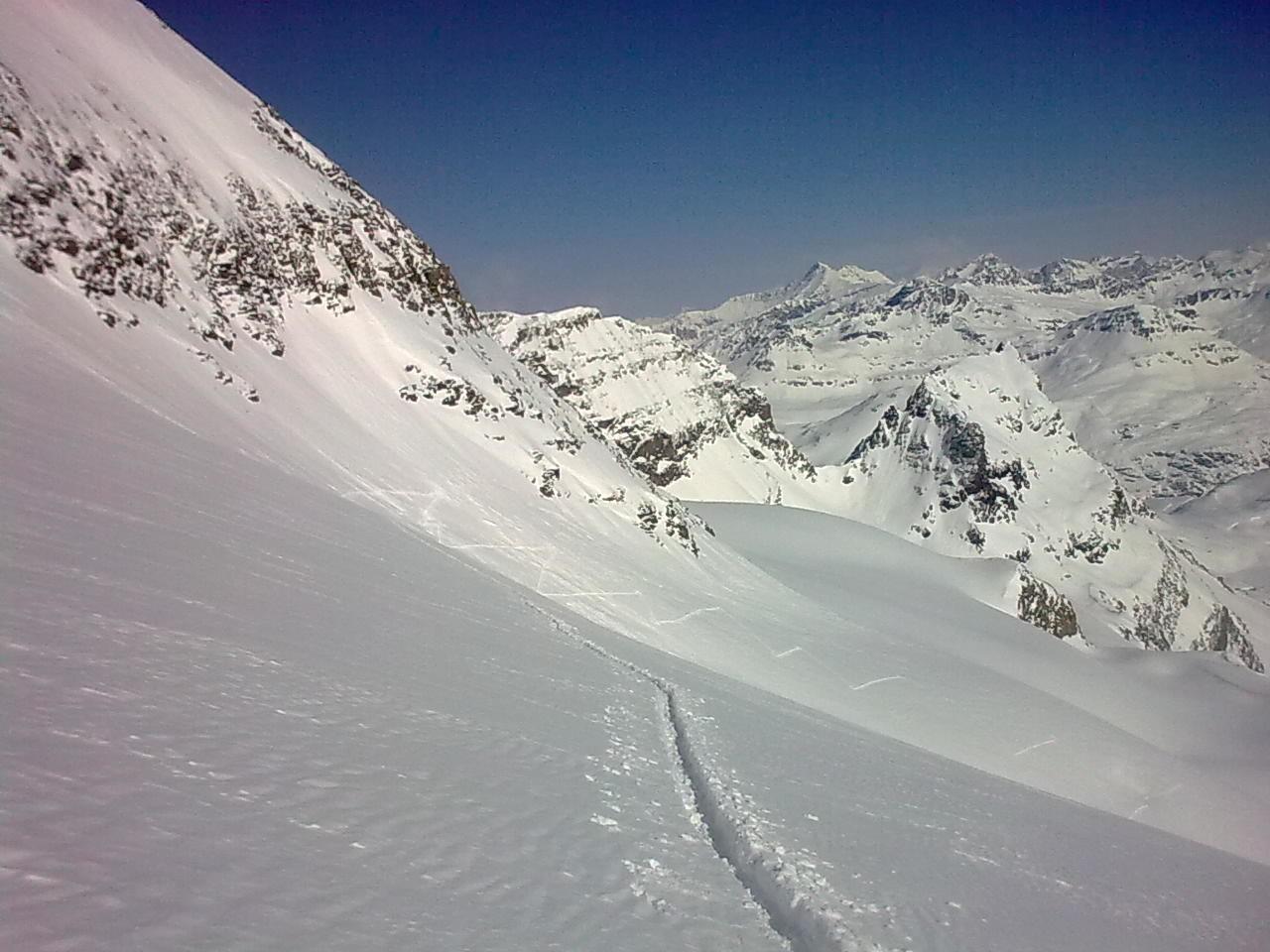 trace sur le glacier