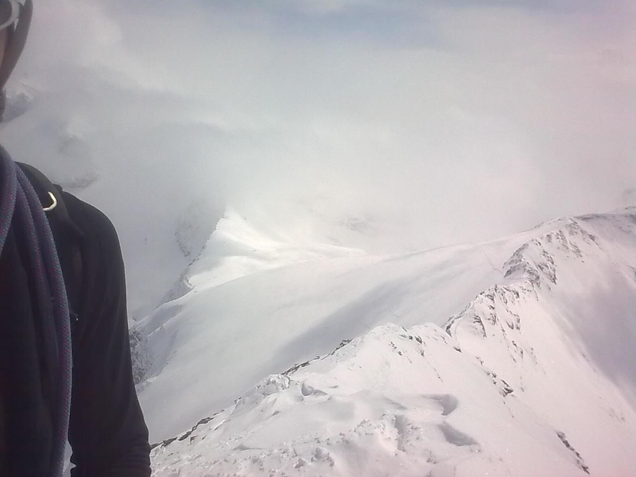 arete S vue du sommet
