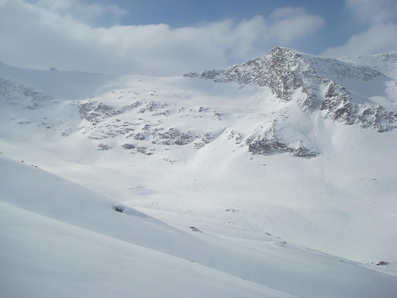 La montée au col de Trièves: chargée de 50cm de neige fraîche et soufflée