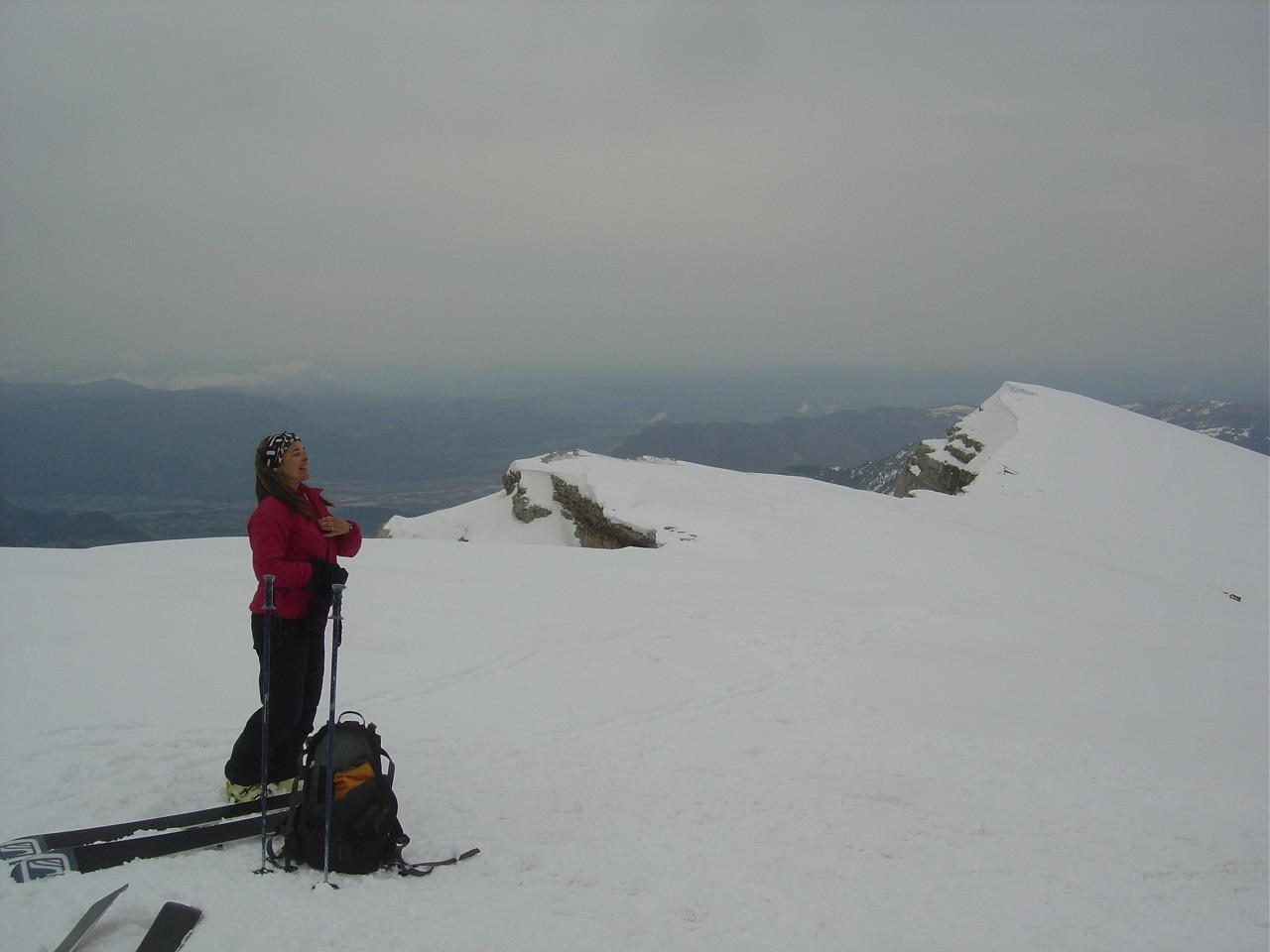Marianne au sommet du Pic.