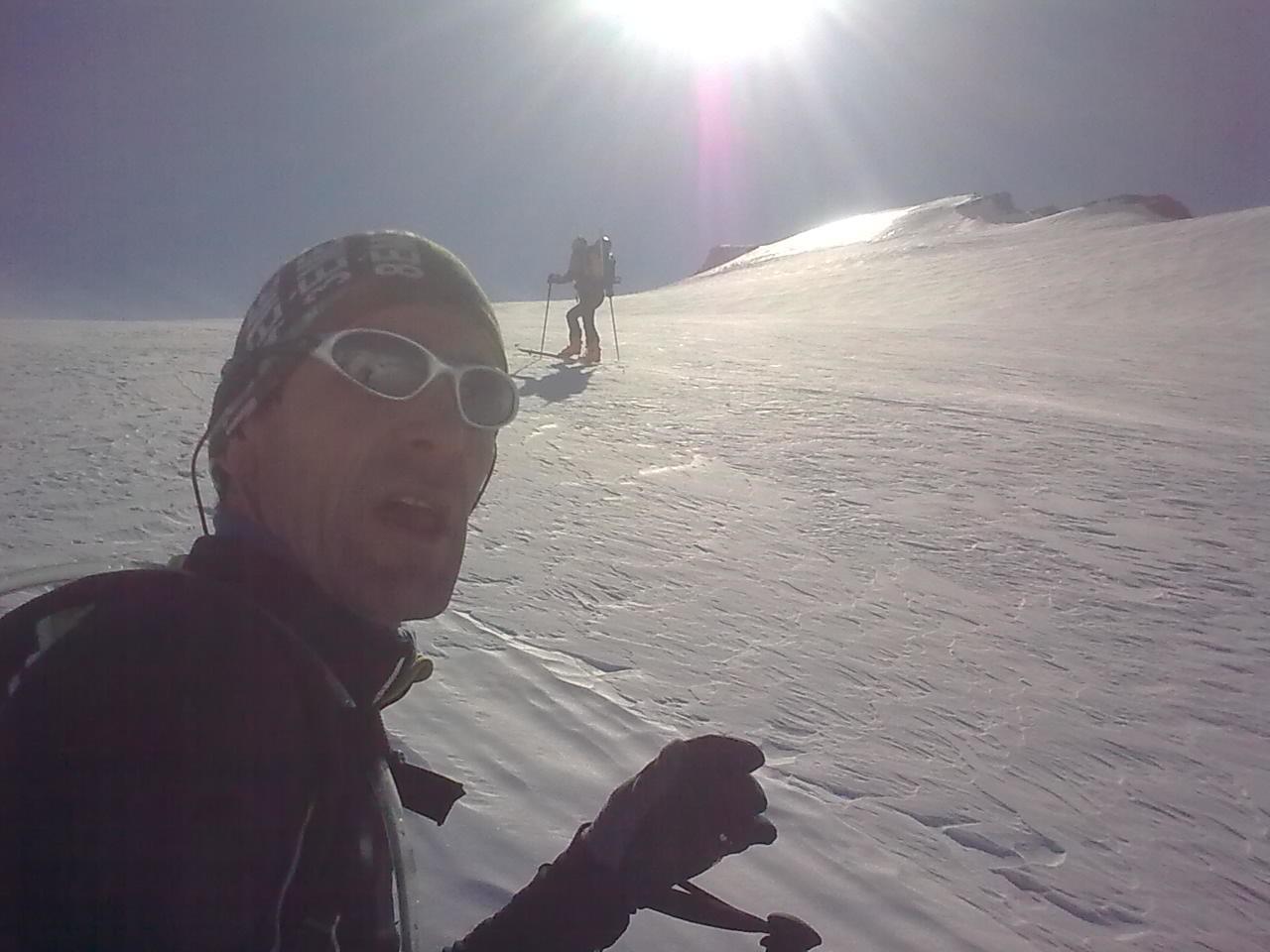 montée sur le glacier charbonnel