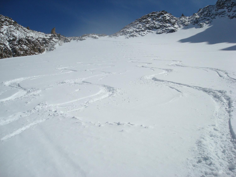 Les Droites et l'Aiguille Verte depuis le Glacier des Améthystes