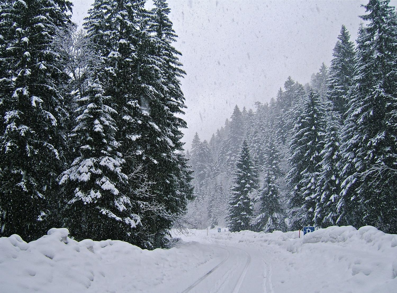 Départ sous la neige.