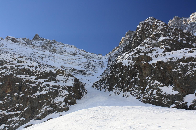Le couloir N du Col de Burlan