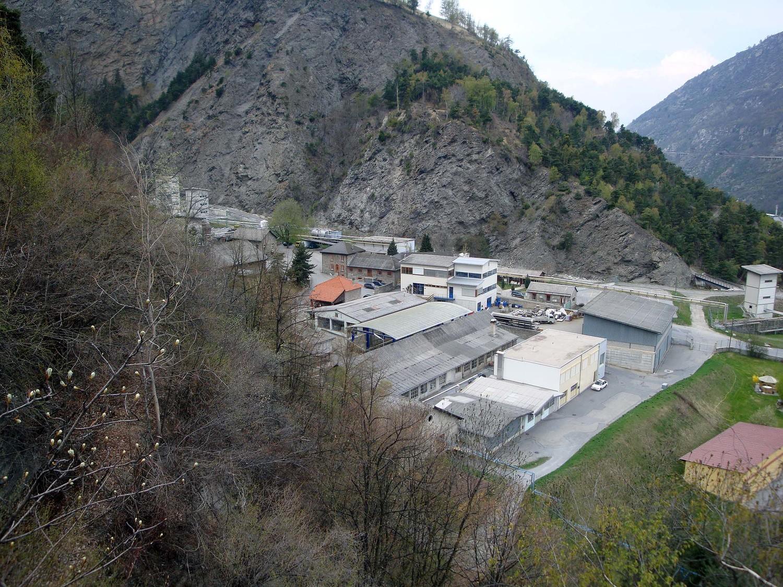 Gliseri: prise derrière l'usine de Gamsen