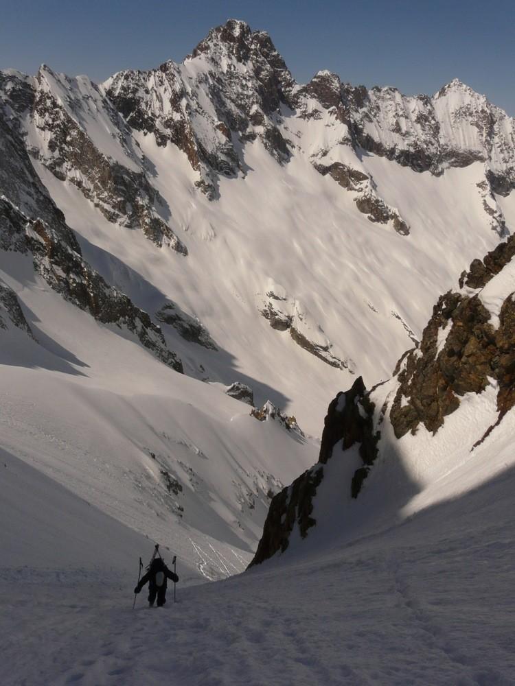 Col de Clot Châtel - Dans le couloir