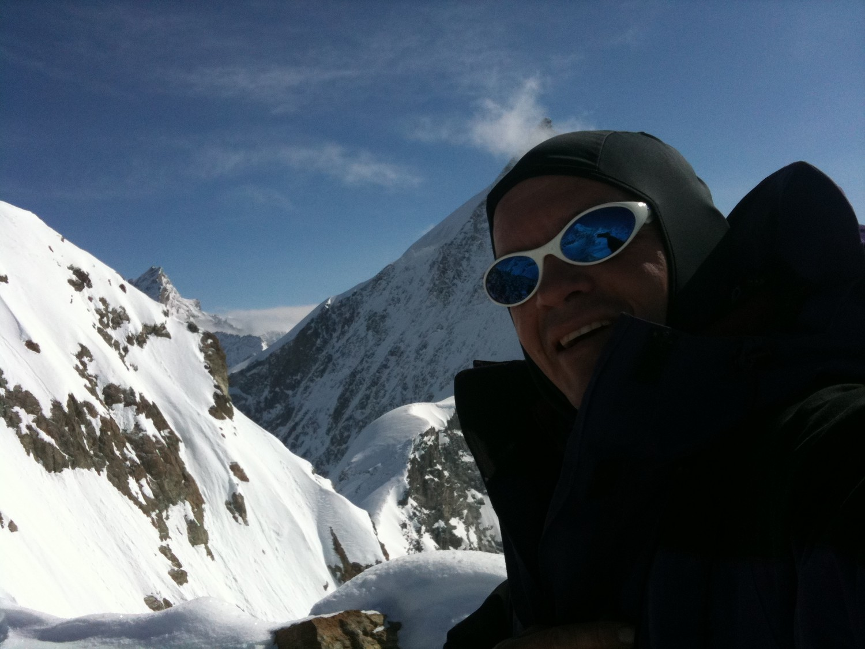 Sam au premier sommet devant l'Obergabelhorn