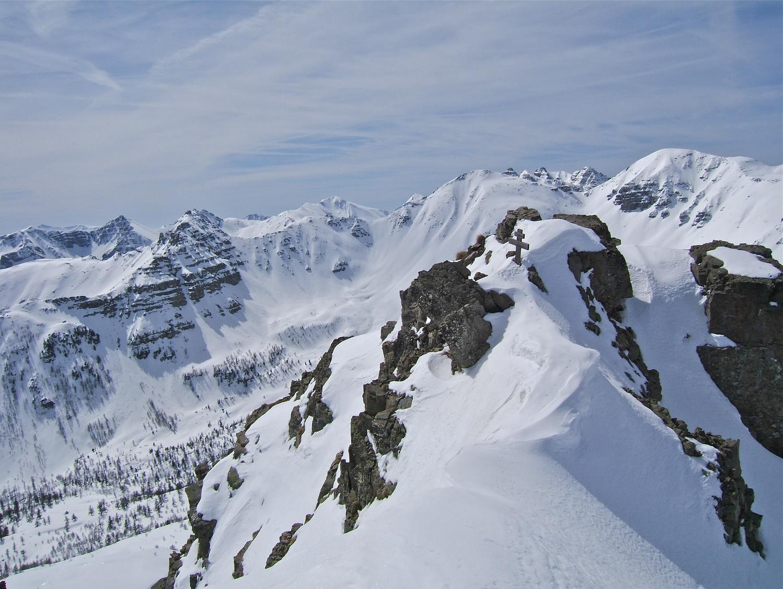 Le sommet et le départ du couloir.
