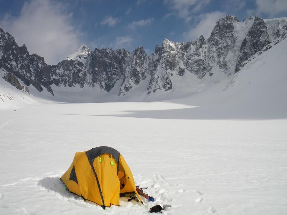 Bivouac sur le glacier d'Argentière