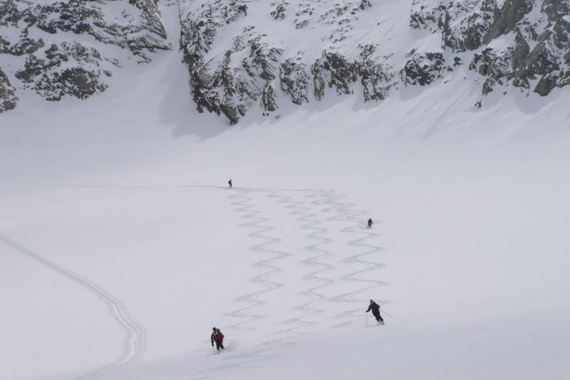 Une neige parfaite et pas une trace