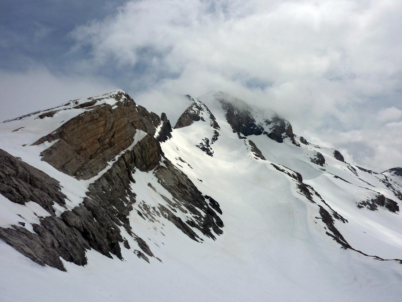 Mont Perdu et son couloir nord, dans une des rares éclaircies de l'aprem