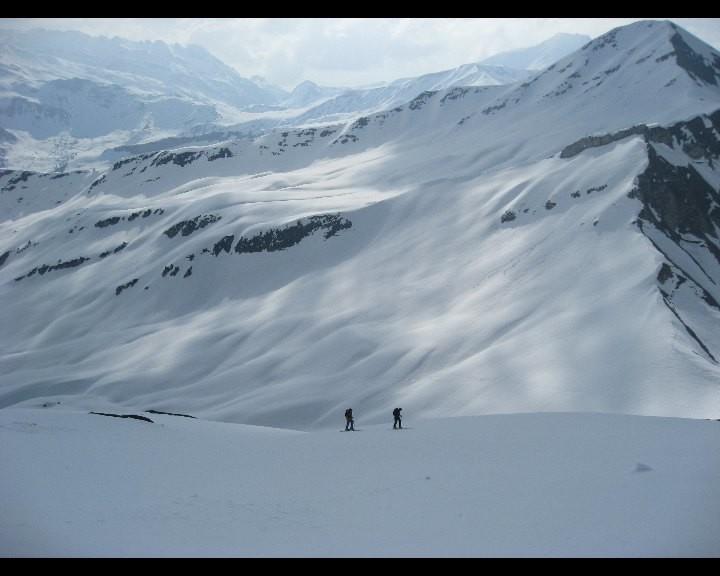 Montée du versant SE du Grand Mont