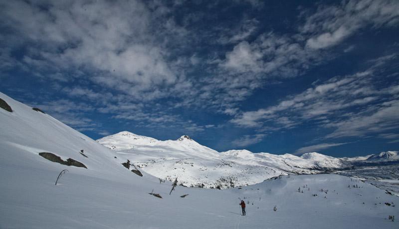la montée a Summit Creek derriere Fraser Peak