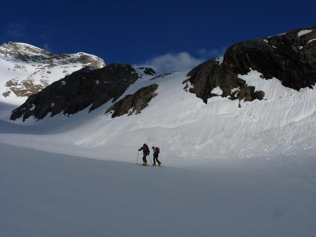 Jonction du glacier du Chardon et des Rouies : prendre la dernière enfilade