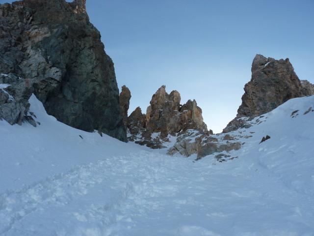 Col de la Casse Déserte : la montée du col initialement prévue pour la Gaspard'in