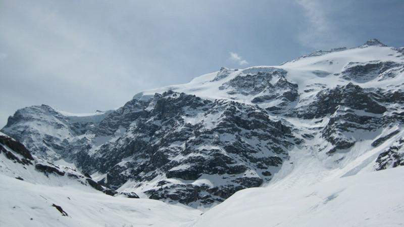 le verrou sous le glacier Supérieur du Vallonnet