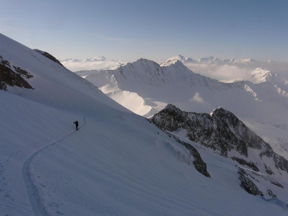 Epaule N de l'Aiguille des Glaciers depuis le Val Vény