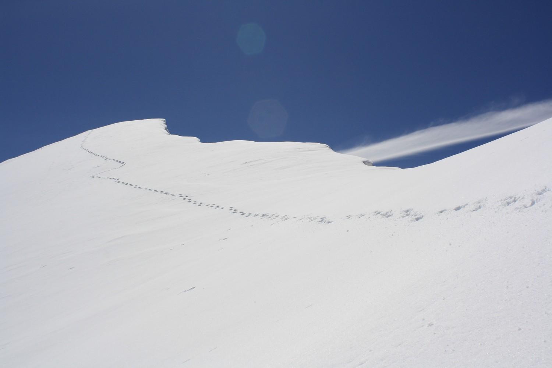 Une belle arête neigeuse