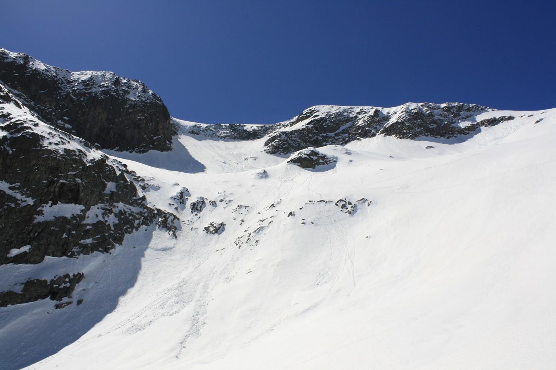 Le versant N de la Tête de la Muraillette