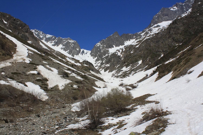L'état d'enneigement du versant S du Col de la Muzelle