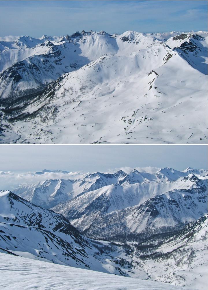 Vue sur le secteur du Plateau de Sestrière.