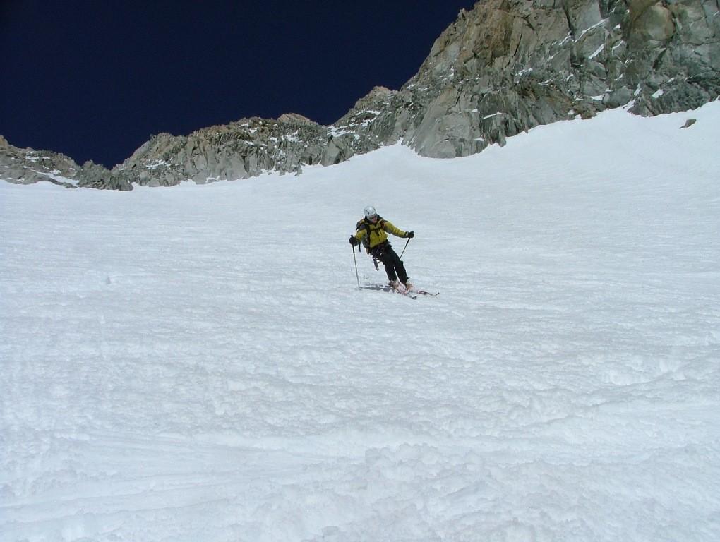Glacier du Milieu : les grosses difficultés sont terminées, juste un peu d'attention avec la neige