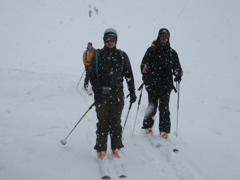 Chardonnet >> Drayères : arrivée aux Drayères sous la neige